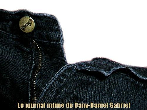 jeans noir zipper dany daniel gabriel