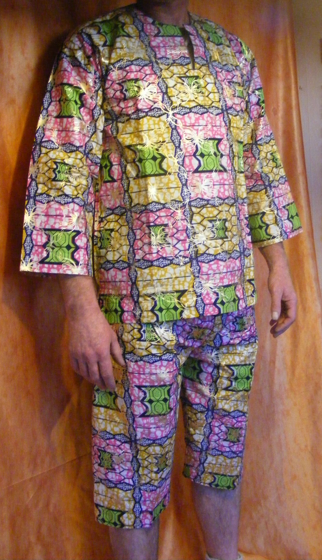 ensemble africain tenue pagne wax NEUF homme tissu | eBay