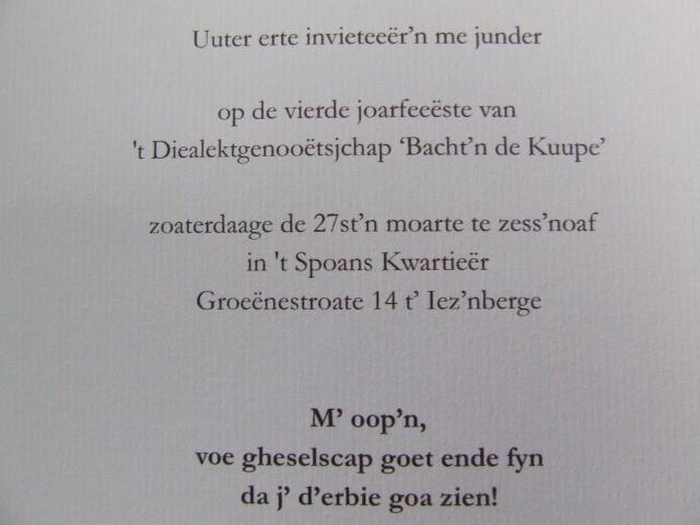Recente West-Vlaamse opschriften en mededelingen 100311022955970735607969