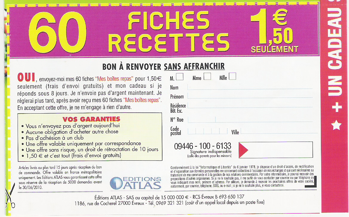 Nouvelles Collections Presse / VPC  ( nouveau : fiches Biscuits et petites douceurs ) 1003201047561018535664193