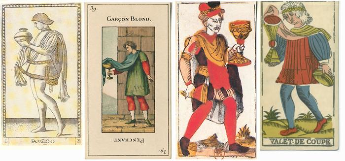 """La carte du tarot """"Valet de Coupes"""" 100402022225777135751997"""