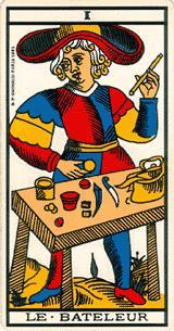 """La carte du tarot """"Le Bateleur"""" 100416042705385005845198"""