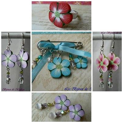 bijoux fleurs fimo