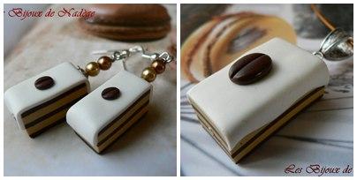 bijoux gâteau café
