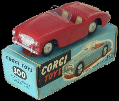 boites bleues sont caractéristiques des premières Corgi-Toys