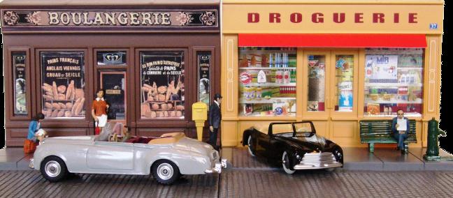 Mélange de Dinky-Toys originale et rééditée