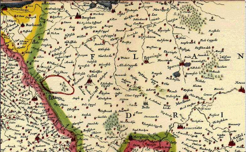 Oude kaarten, gravures en tekeningen van Frans-Vlaanderen 100512101322970736019028