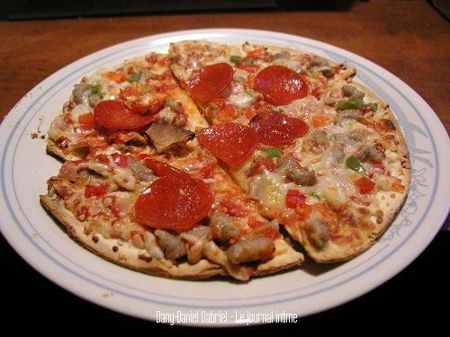 pizza croute mince