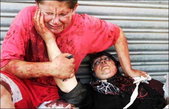garcon et sa mere - Palestine - 2