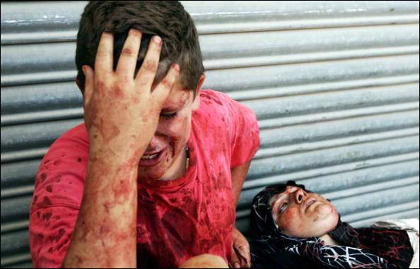 garcon et sa mere - Palestine - 4