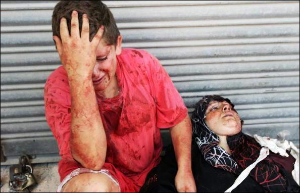 garcon et sa mere - Palestine - 5