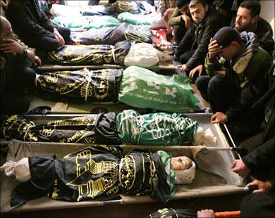 2129 martyrs dans l'holocaust de gaza