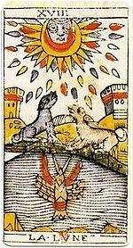 """La carte du tarot """"la Lune"""" 100615125417385006231362"""