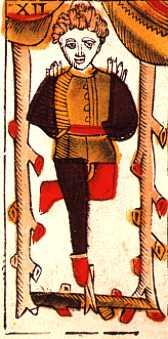 """La carte du tarot """"Le Pendu"""" 100617044220777136245402"""