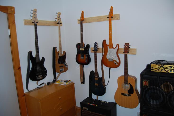 Accrocher Ses Guitares Sur Le Mur - Porte guitare mural