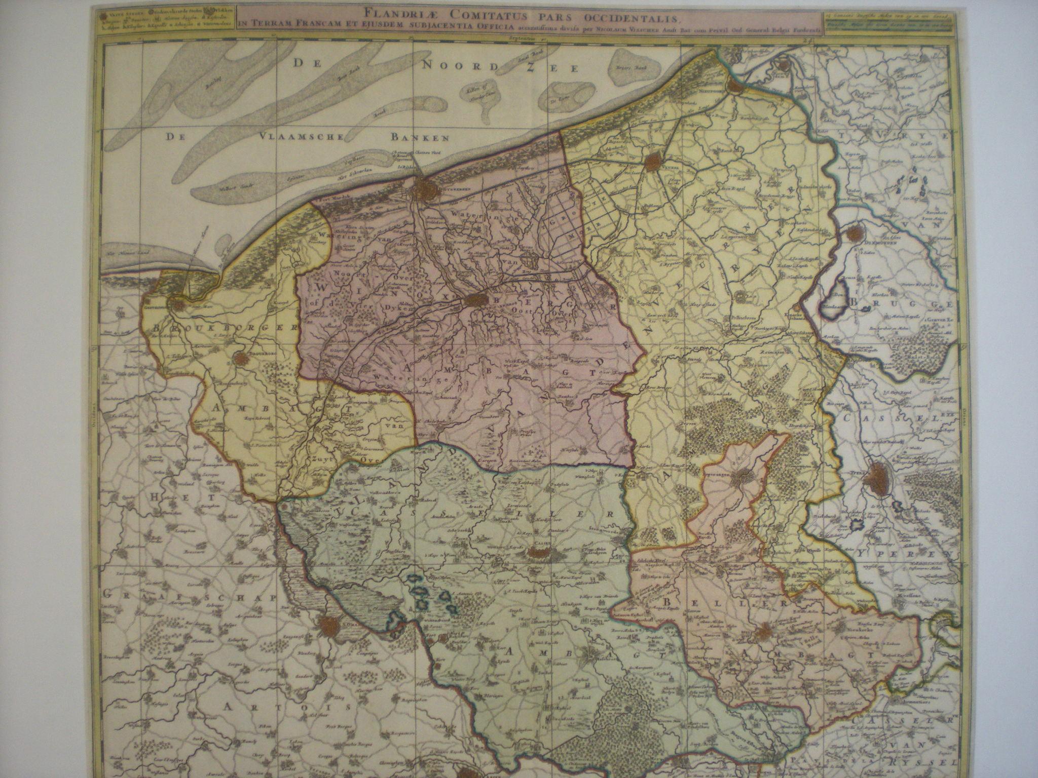 Oude kaarten, gravures en tekeningen van Frans-Vlaanderen 100701094225970736332254