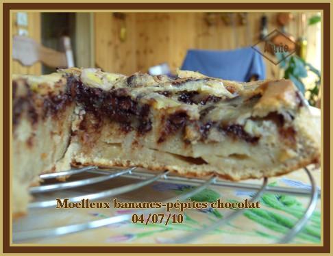 Moelleux aux bananes et pépites de chocolat + photos 100704070117683836346779