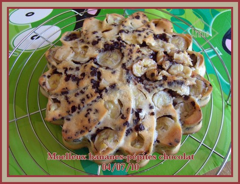 Moelleux aux bananes et pépites de chocolat + photos 100704070117683836346781