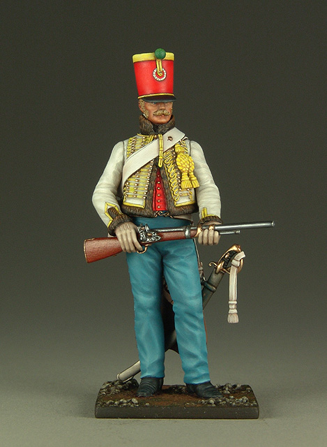 Vitrine de Bernard.S (Métal Modèles, bien entendu...) Trompette des 9ème et 7ème Hussards 100719013053359346425932