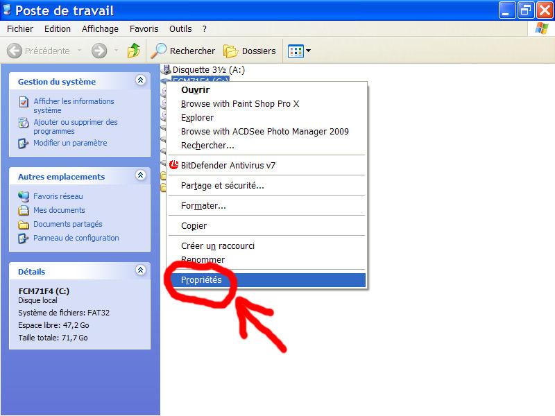 espace-disque disponible sur le disque dur 1007270442001135316472562