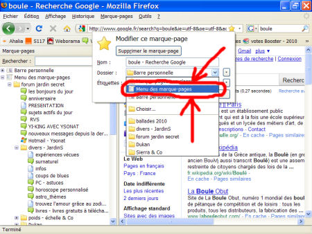 marques-pages (favoris) - FireFox 1007290601121135316481793