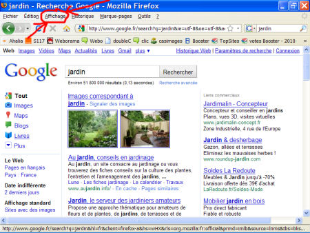 marques-pages (favoris) - FireFox 1007290601171135316481795