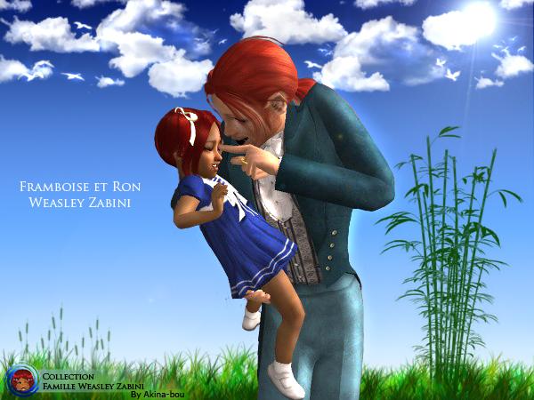 Framboise et Ron Weasley Zabini by Akina-bou